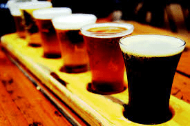 Flights of beer available at Cox's Spirit Shoppe and Smoke Outlet of Louisville.