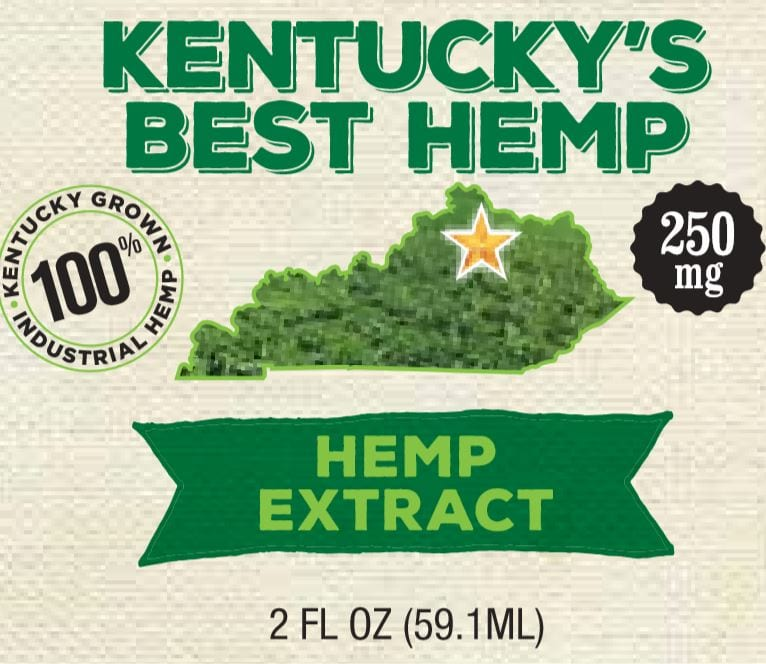 Kentucky's Best Hemp, 2 FL Oz of Hemp extract at 250 mg for sale at Cox's Spirit Shoppe and Smoke Outlet of Louisville.