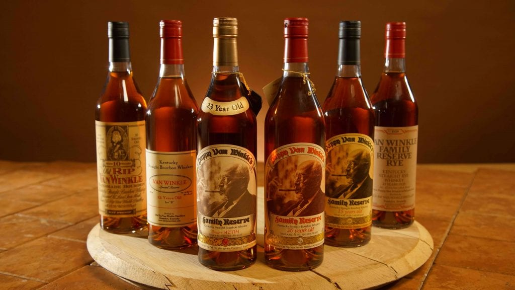 An assortment of Bourbon Spirits for sale at Cox's Spirit Shoppe and Smoke Outlet of Louisville.