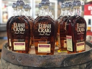 Elijah Craig on a barrel
